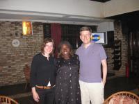 Caroline, Barbara och Jag. Barbara är tjejen som vi valde att sponsra hennes universitetsutbildning.