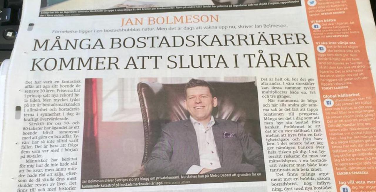 Har vi en bostadsbubbla i Sverige?