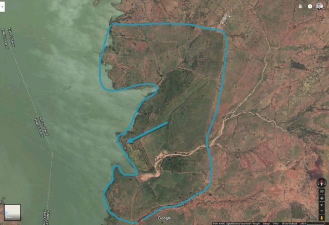 Better Globes plantage i Kiambere, bild via Google Maps, 2017