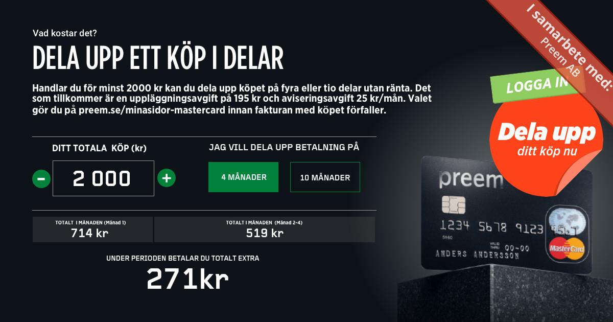 Preem MasterCard: Betala i din egen takt