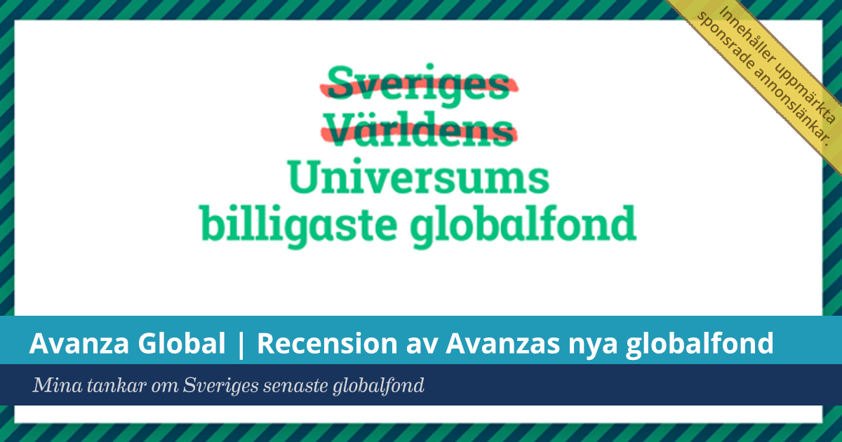 Avanza Global | Recension av Avanzas nya globalfond