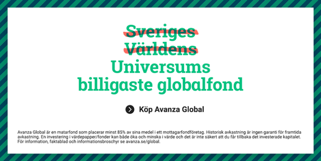 Avanza Global - Universums billigaste globalfond
