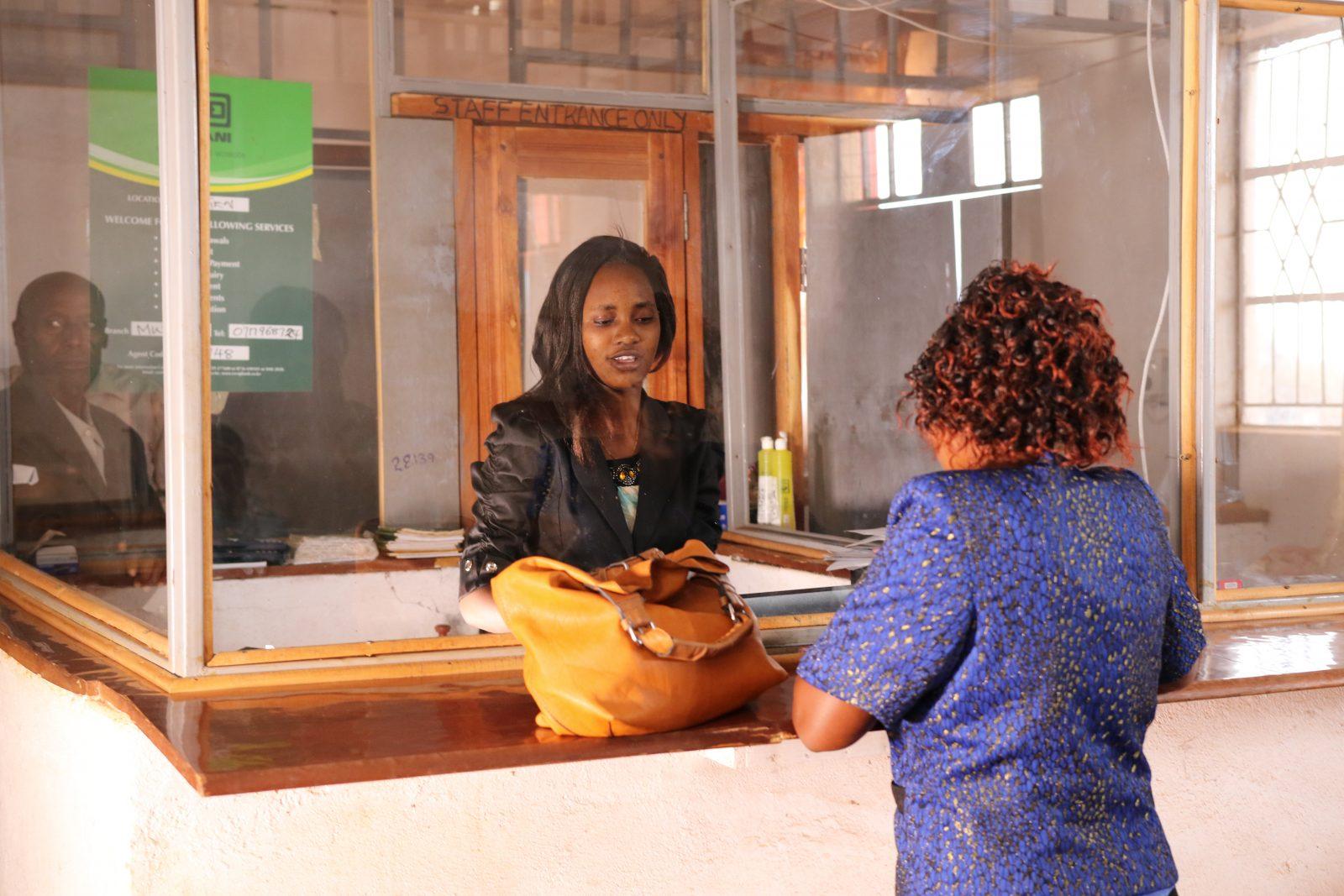 Disken i mikrolånbanken i Nguni/Mbuvu